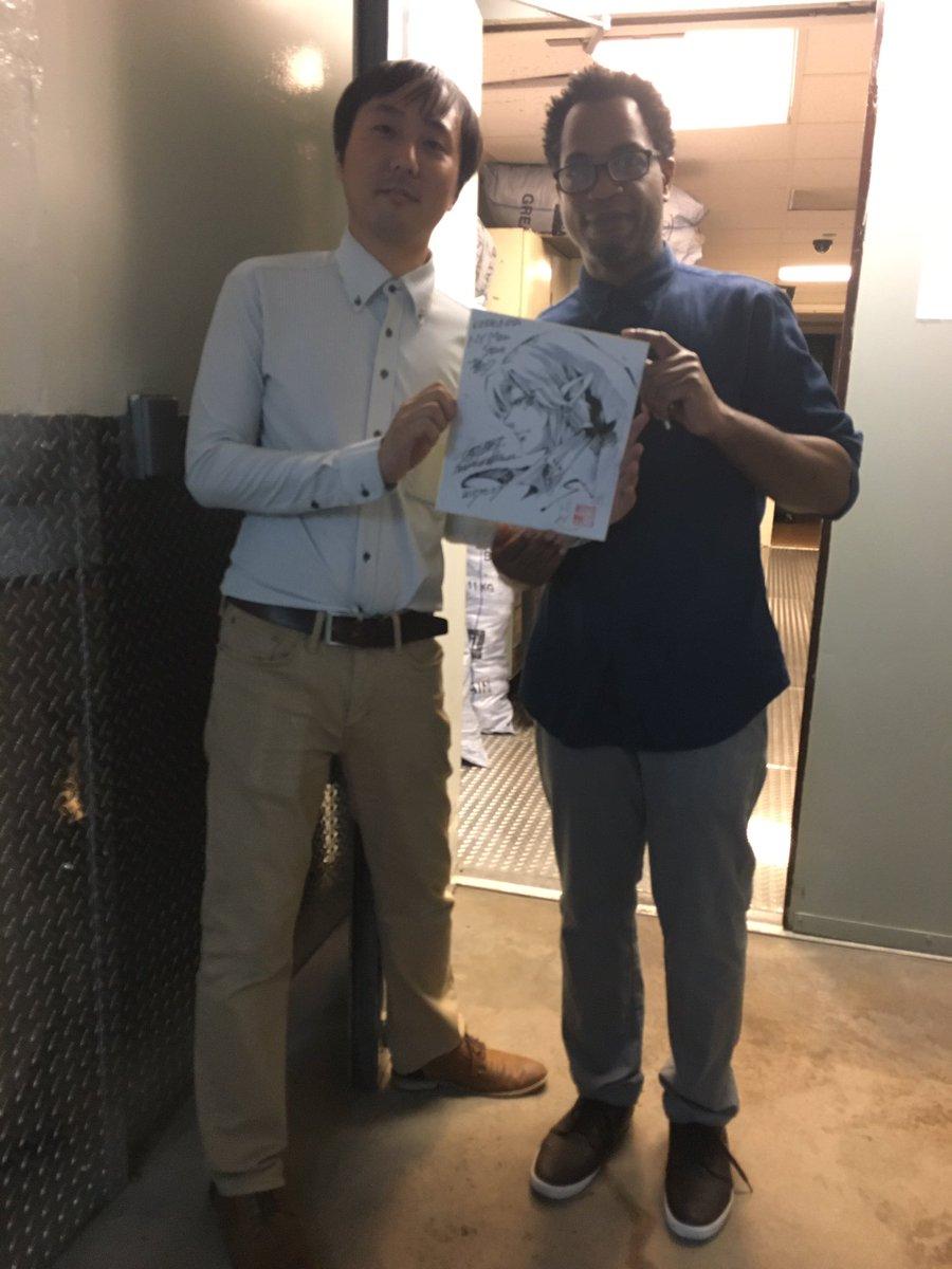サイン会無事終わり、ラストに描いたkinokuniyaさんへの色紙。久々オカリナリンク。