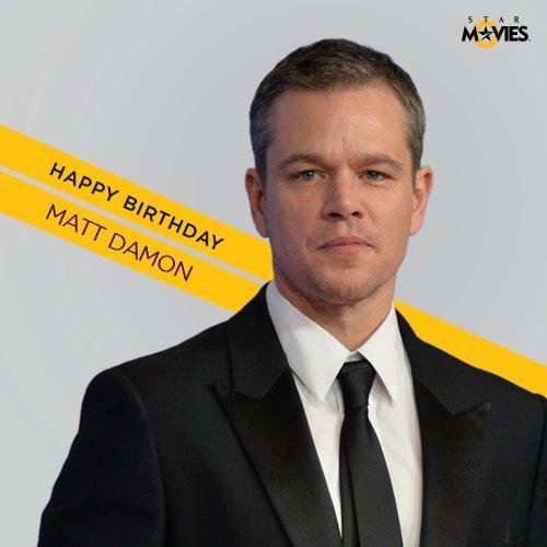 Happy birthday to a man of many talents, Matt Damon!