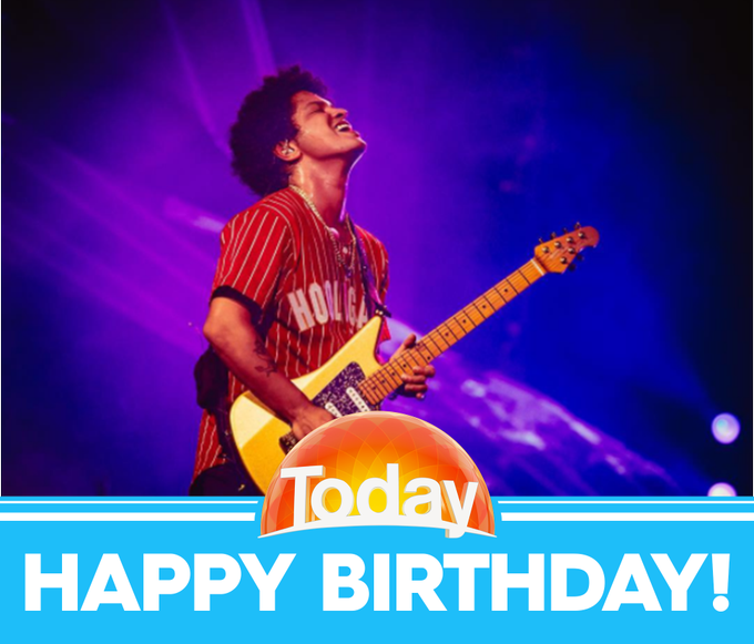 Wishing Bruno Mars a very happy birthday today!  (Credit: Instagram/brunomars)