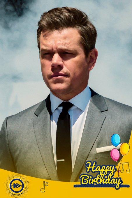 Happy birthday to the Hollywood superstar, Matt Damon!!!