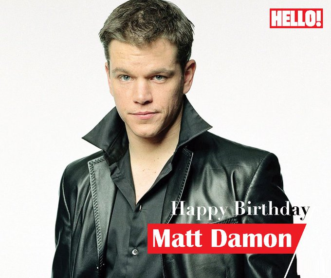 HELLO! wishes Matt Damon a very Happy Birthday