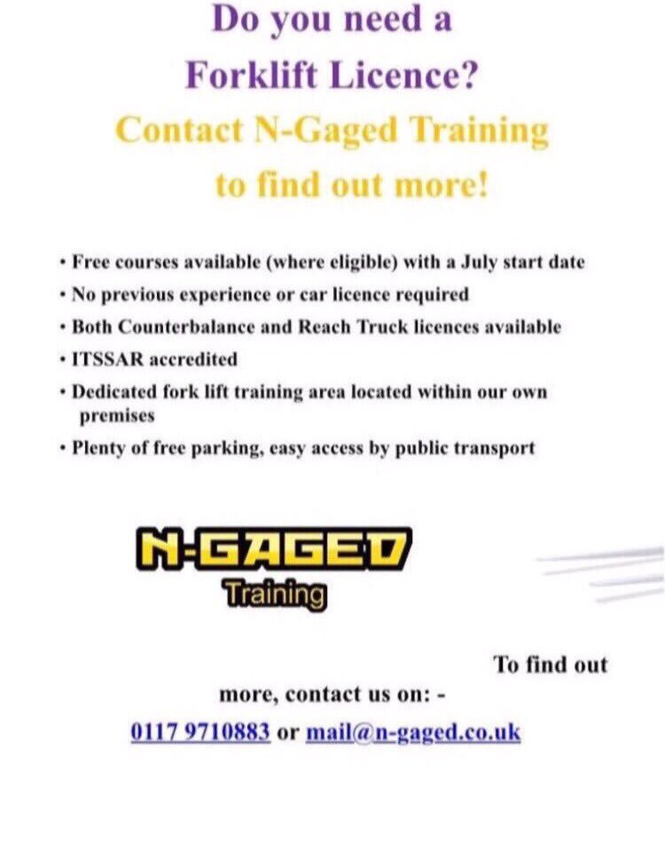 N Gaged Training On Twitter Looking For A Forklift Course In