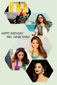 Shah Rukh Khan True Fans Club wishes A Very Happy 47th Birthday to Gauri Khan The Queen of King of Bollywood