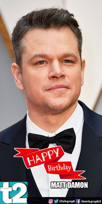 to this man is magic on screen. t2 wishes a very happy birthday to Matt Damon.