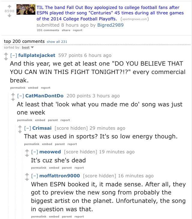 Redditcfb On Twitter A Post On Annoying Espn College Football