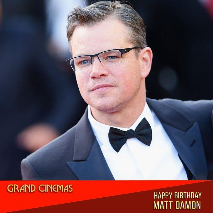 Wishing Matt Damon a very happy birthday!