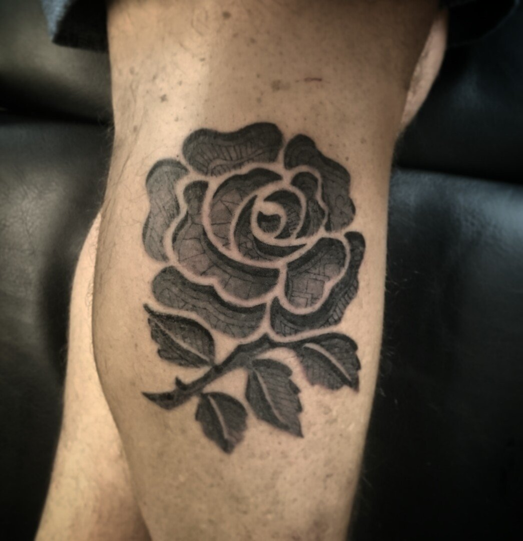 Neil Wolf Tattoo On Twitter Lil Custom Rugby Rose Tattoo From