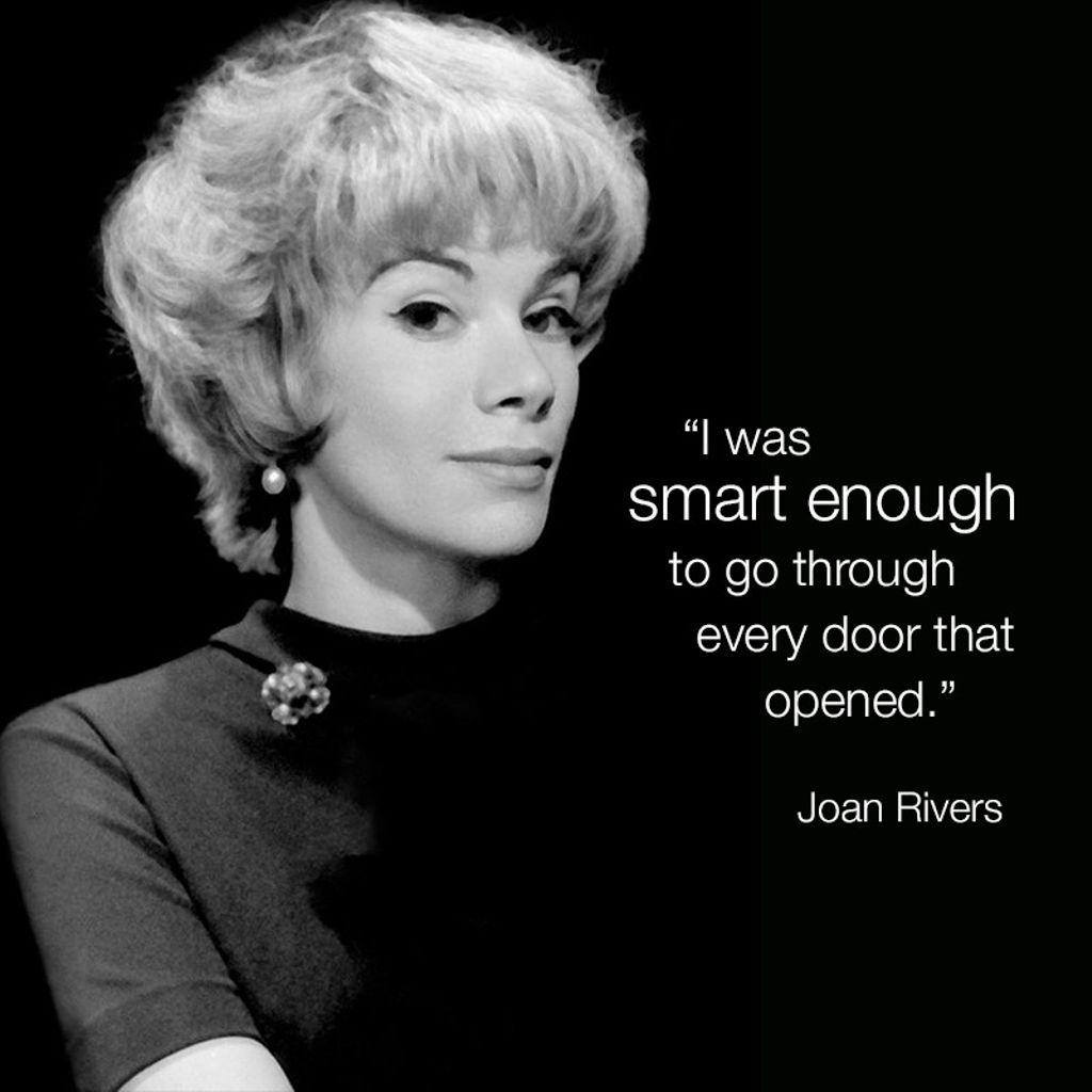 #WordsofJoan #JoanRivers https://t.co/D6tpUFcDRx