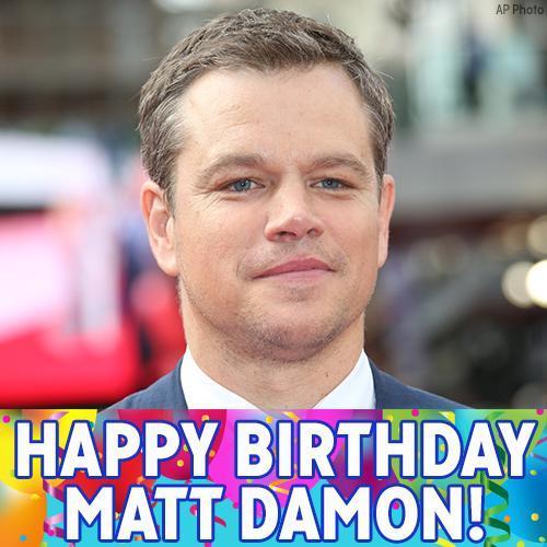 How do you like them birthday apples? Happy Birthday, Matt Damon!