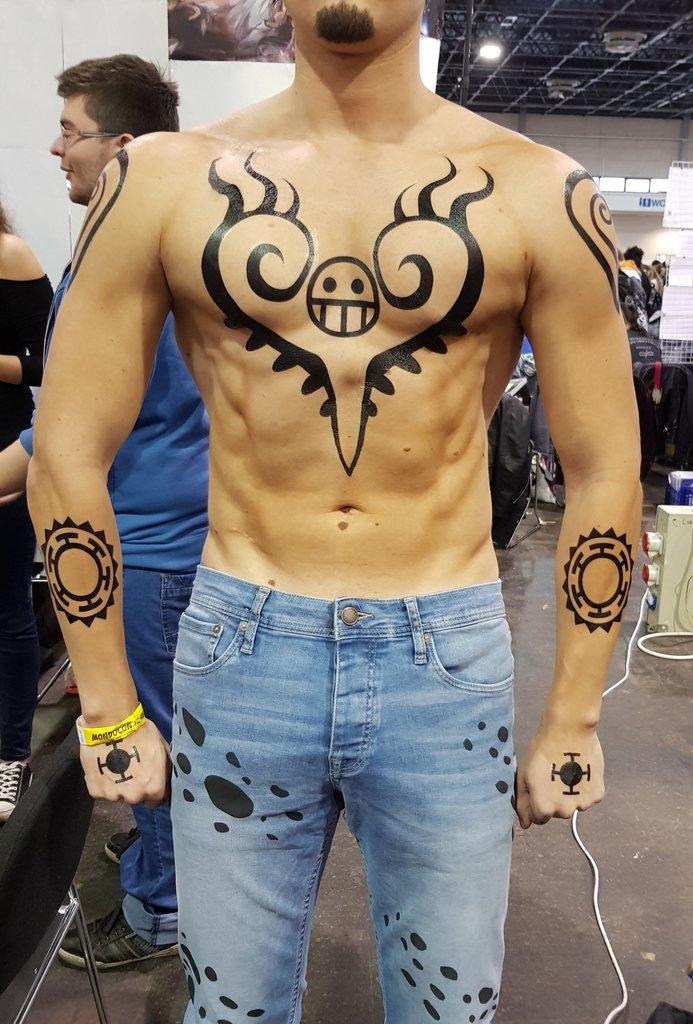 trafalgar law tattoos
