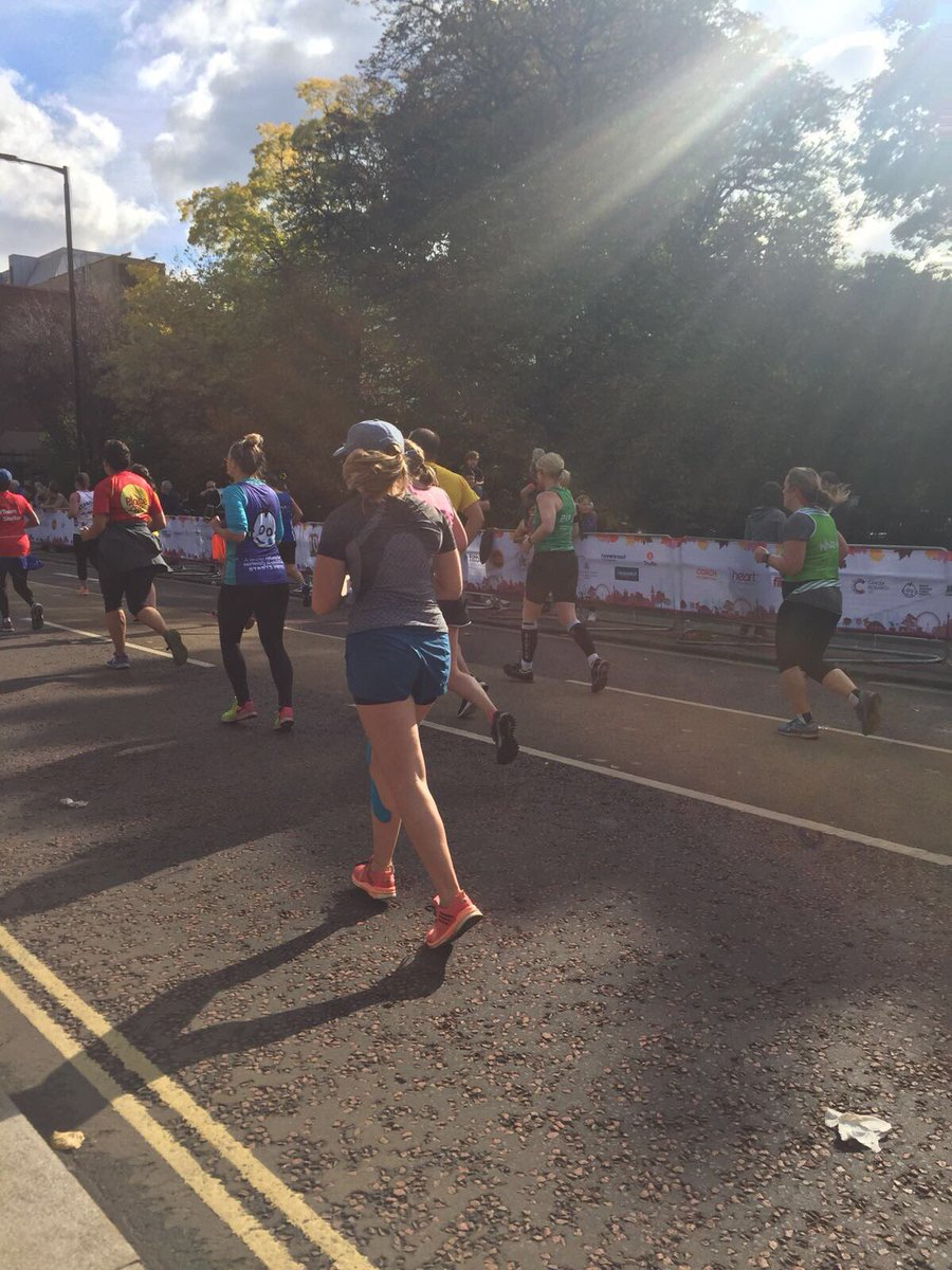 Hugely proud of our very own Ash Gibbs who struggled with her knee in lead up to @RoyalParksHalf but she's done it #10yearsrunning