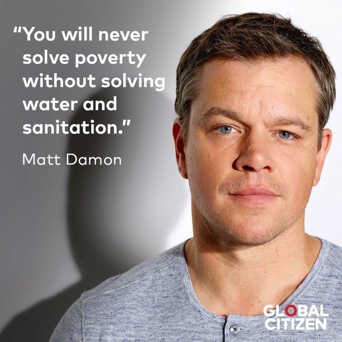Happy birthday to co-founder Matt Damon! Thanks for being a champion for clean water and sanitation, Matt