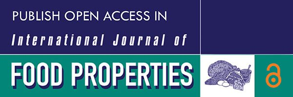 T F Bioscience On Twitter Intl Journal Of Food Properties As Openaccess Benefits Foodtechnology W Research Available For Everyone Https T Co Bndxtqppyu Tandfopen Https T Co Vlofpkjwiz