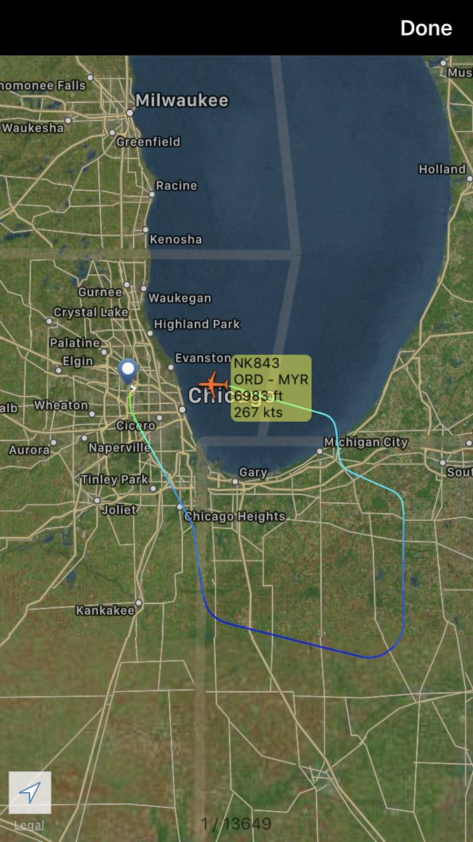 International Flight Network On Twitter Spirit Airlines Nk843 From Chicago To Myrtle Beach Is Returning Ord Https T Co 6dzvk4rf6s