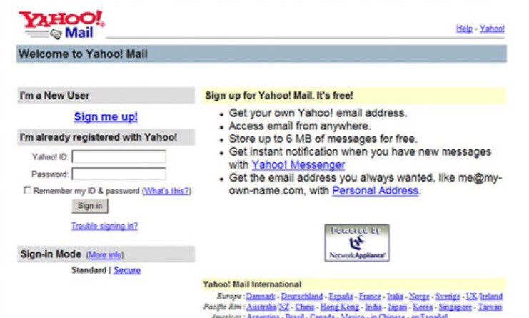 trouble signing in to yahoo mail