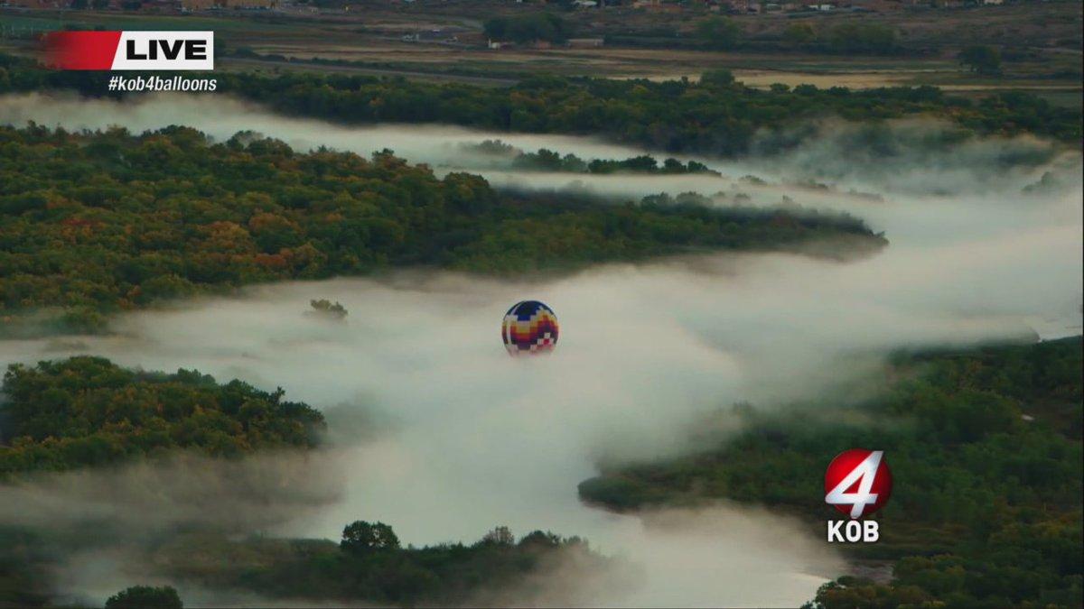 Steam fog + balloons = Heaven...#nmwx #NewMexicoTRUE #balloonfiesta