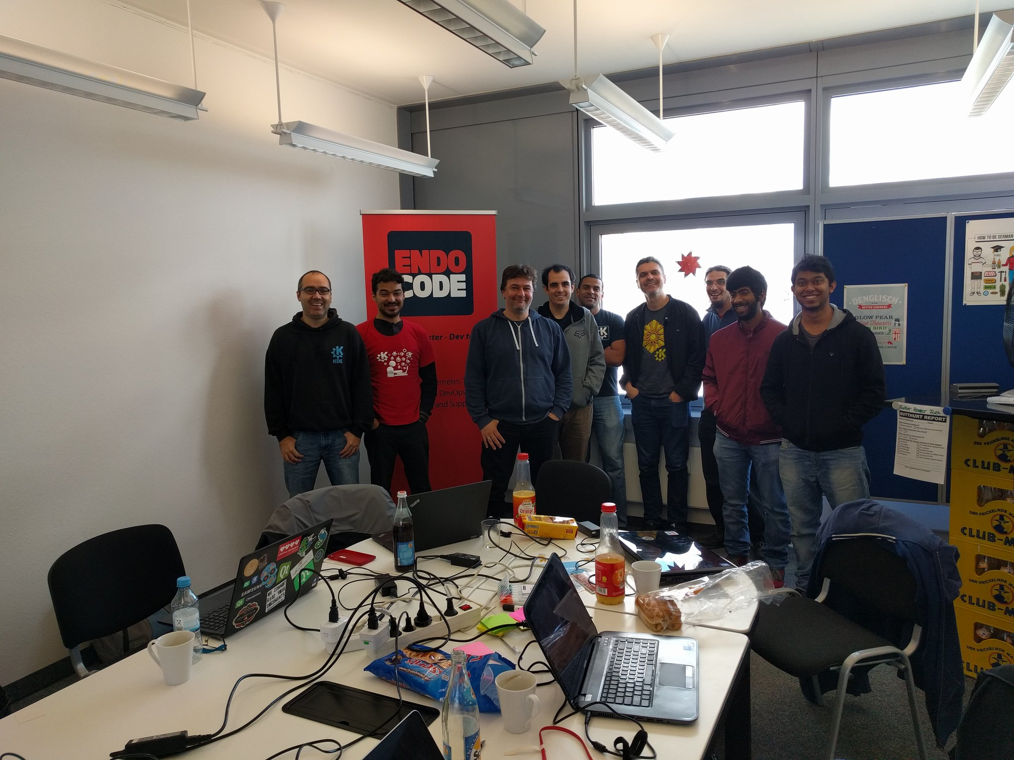 The hackers at KDE Edu Sprint 2017