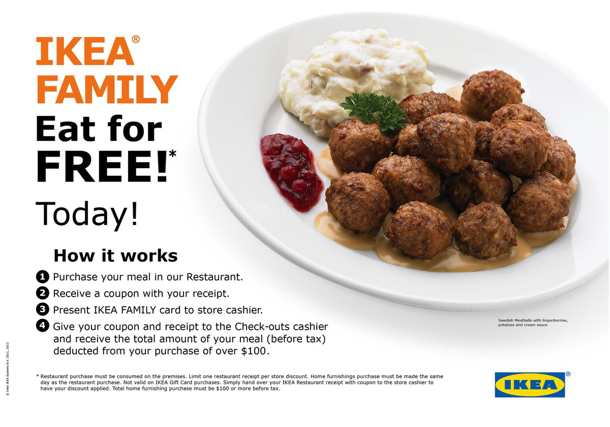 Ikea Bolingbrook On Twitter Ikea Family Eat For Free Dine In Our
