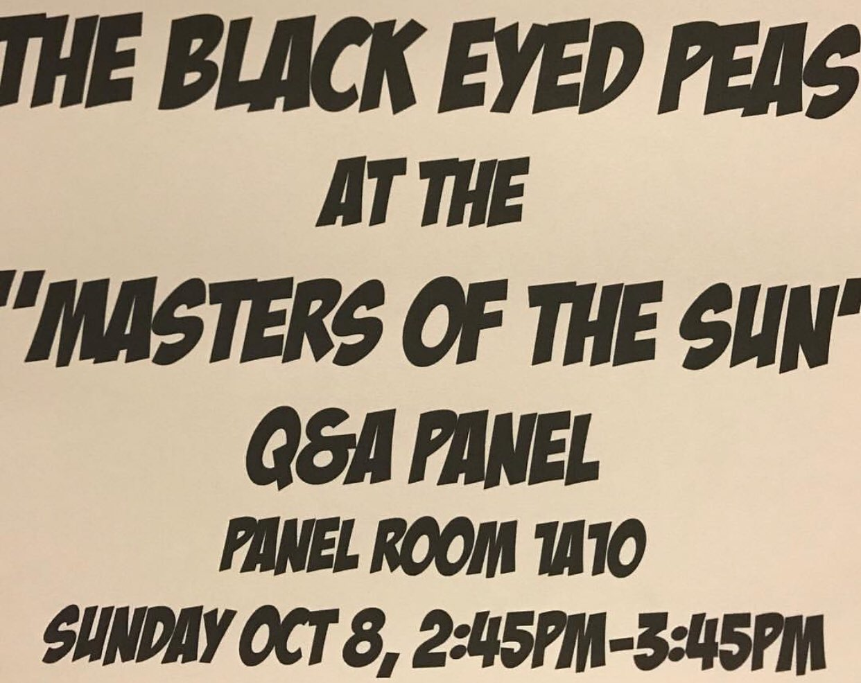 #NYCC — come see us at the  #MastersOfTheSun Q&A with @DamionScott2. Today at 2:45p. See you there. https://t.co/latEL1FnKd