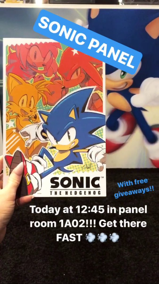 First official @sonic_hedgehog / IDW Town Hall at #NYCC! Tune in to the IDW Instagram for our live stream! https://t.co/DiCdemCcL1