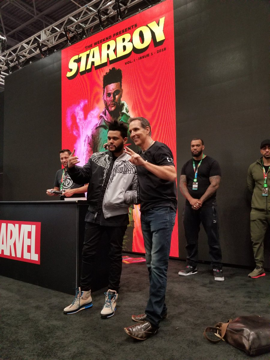 On stage with fellow Canadian @theweeknd as he promotes his new STARBOY comic from @Marvel https://t.co/PC18KZ5wm9