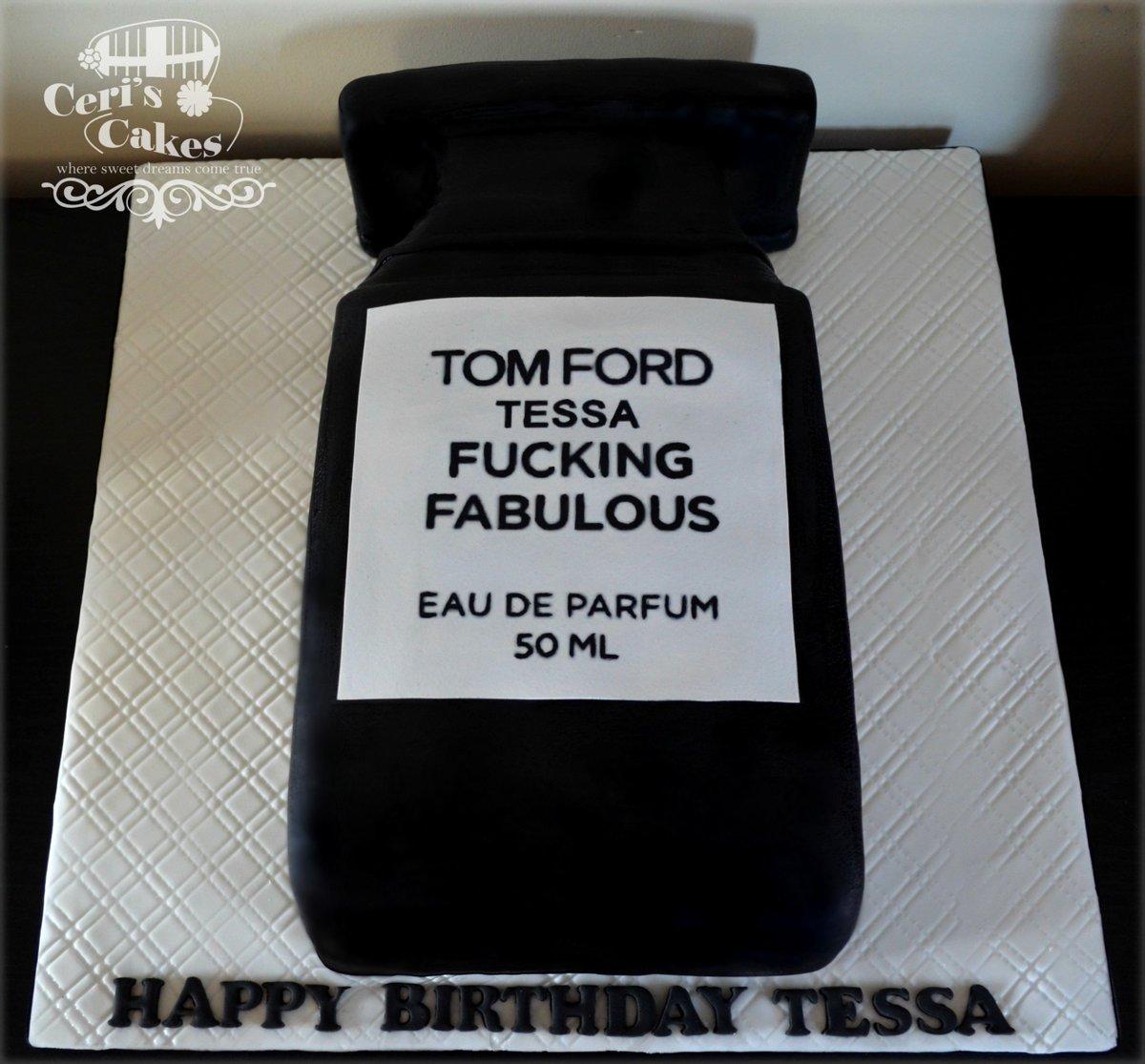 Ceris Cakes On Twitter Tom Fords Fucking Fabulous Perfume Cake