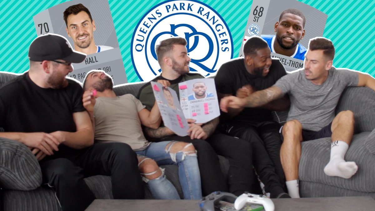 NEW VIDEO!! We got two of @QPRFC's players to react to their FIFA 18 stats! 😱😱 https://youtu.be/N-S3GSXVbpc