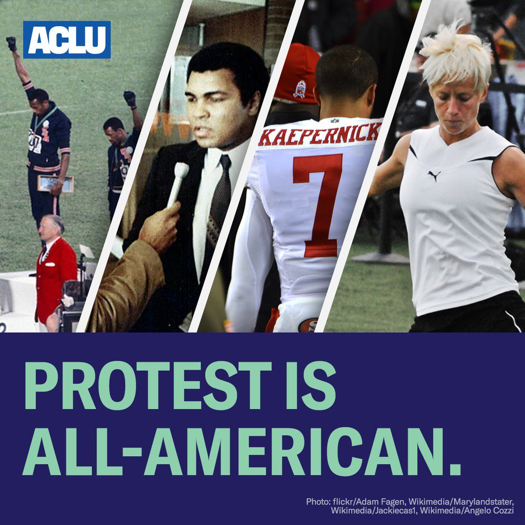 To all the athletes protesting racial injustice and police brutality: we're with you. #TakeAKnee