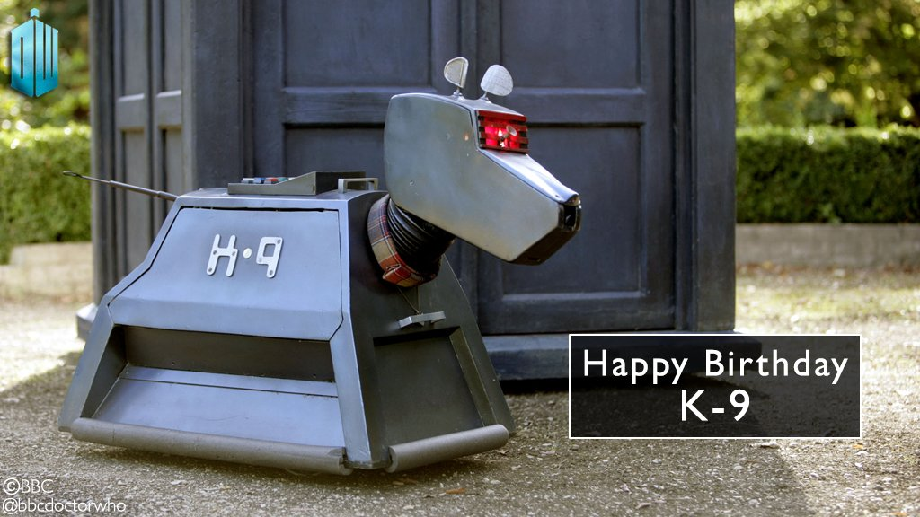 Happy birthday, K-9! The Doctor's faithful friend made his debut 40 years ago today! #DoctorWho