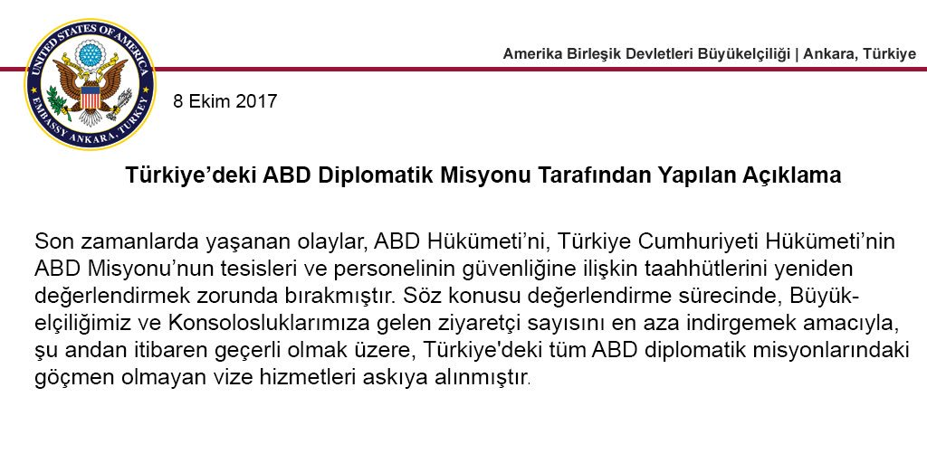 US Embassy Turkey On Twitter Trkiyedeki ABD Diplomatik Misyonu