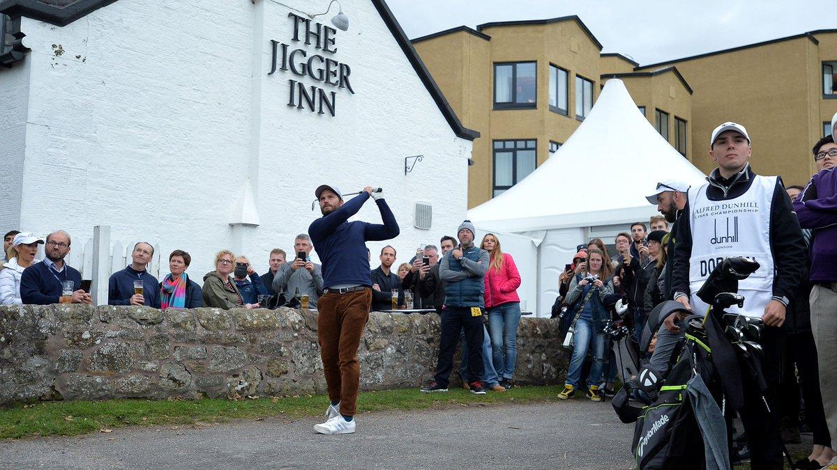 Actor Jamie Dornan at the 19th hole