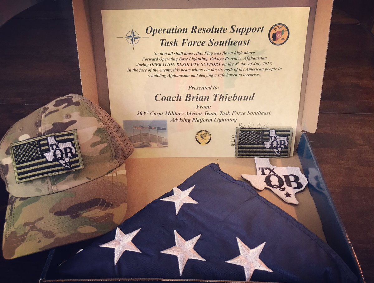 Brian thiebaud on twitter proud to honor the symbols of our brian thiebaud on twitter proud to honor the symbols of our nation i received this from the dad of one of my qbs who just returned from afghanistan biocorpaavc Images