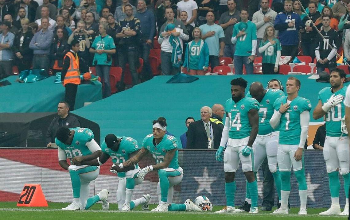 Miami Dolphins implement National Anthem policy https://t.co/bKKe9Niei6 https://t.co/cUwWFjMUBh