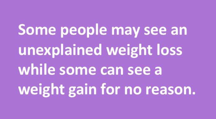 Some #diabetics may see an #unexplained #weight #loss while some can see a weight #gain for no reason.   http://www. howdoyougetdiabetes.info/signs-of-being -diabetic/ &nbsp; … <br>http://pic.twitter.com/mE2ops7QSn