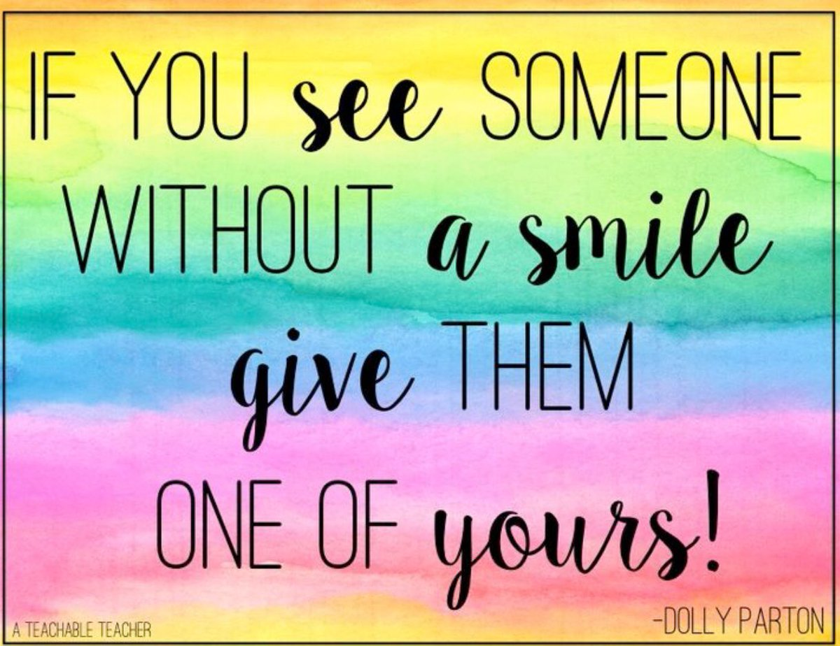 If you see someone without a #Smile..  #JoyTrain #Joy #Love #Peace #Kindness #MentalHealth #Mindfulness #GoldenHearts #IAM #FamilyTrain #IAMChoosingLove #FridayFeeling #FF #FridayMotivation #FridayReads  #FridayMorning #FridayThoughts RT @nickystevo<br>http://pic.twitter.com/5HKExQ9mYY