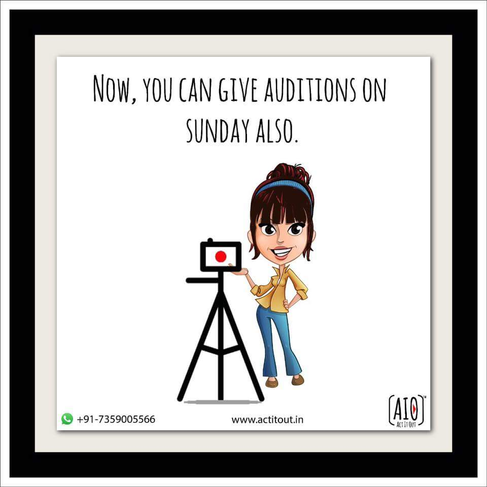 Open #24x7 !  Upload your #Audition on the AIO #app Anytime! #Auditions #Acting #Films #WebSeries #Theatre #Actors #Casting #Actress #Model<br>http://pic.twitter.com/4PiZ9hSwgM