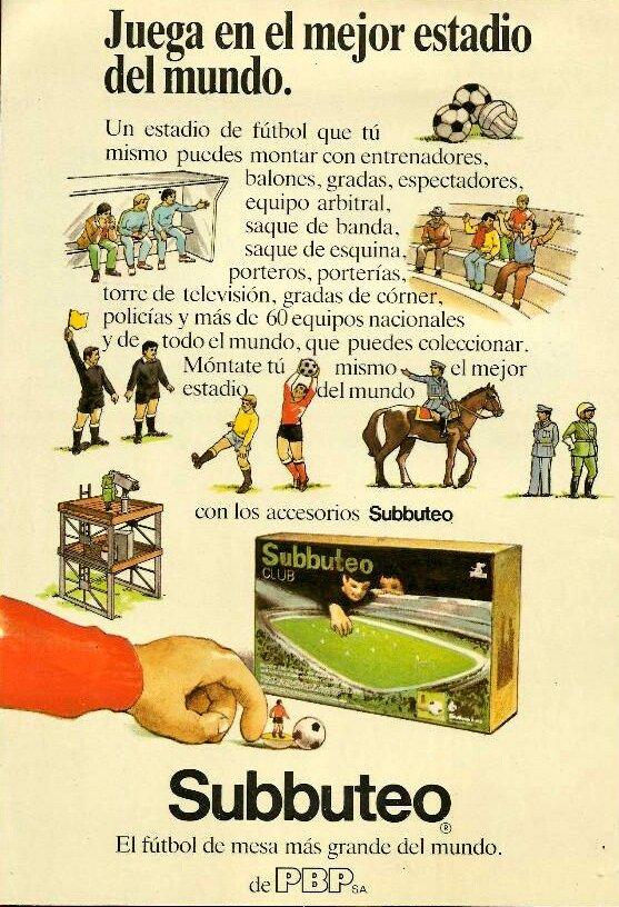 vintage subbuteo advert