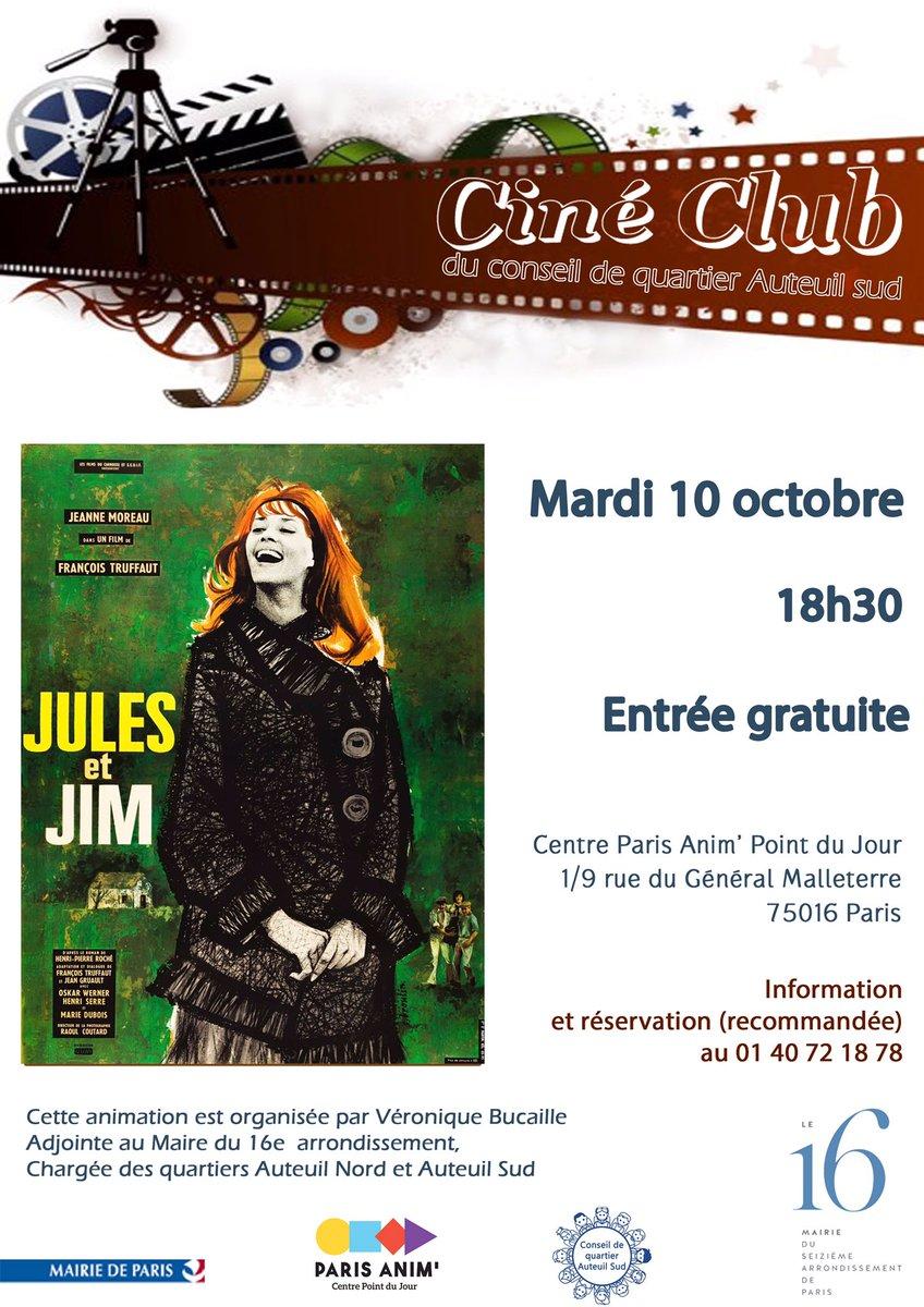 Demain à 18h30 venez nombreux #cine club #hommage #jeanne Moreau #conseils de quartier @mairiedu16 @danielegiazzipic.twitter.com/cdCBIK0Mnm