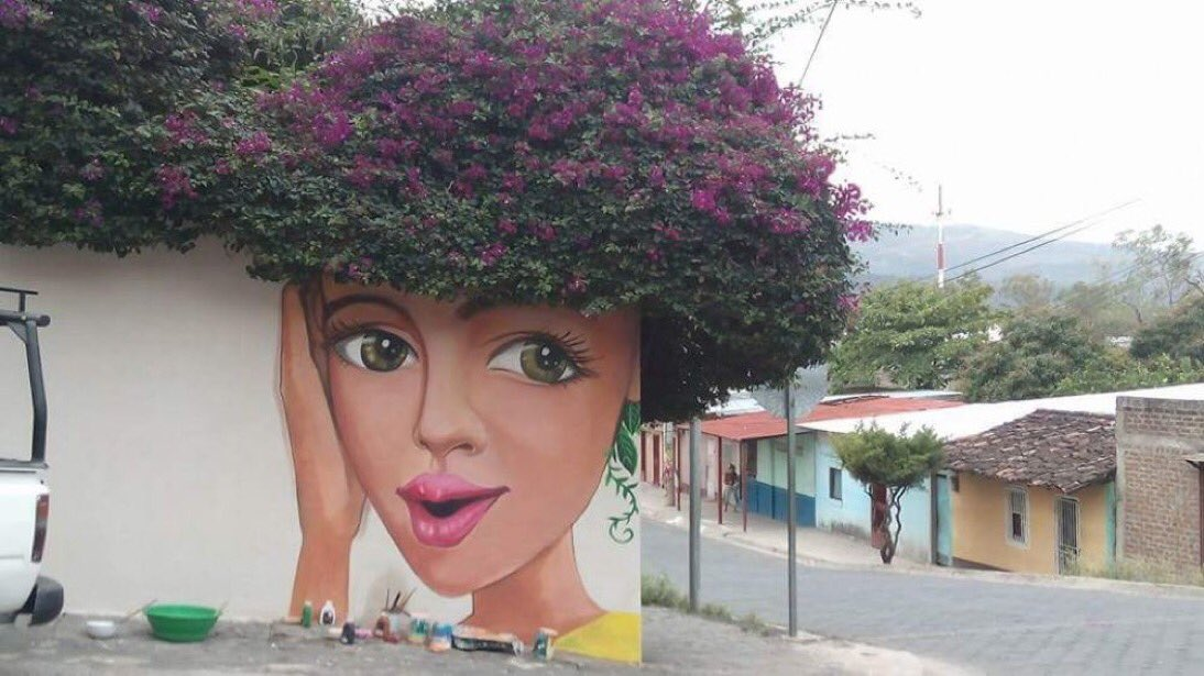 Street Art meets nature in Nicaragua <br>http://pic.twitter.com/dC2XPwZ6Tz