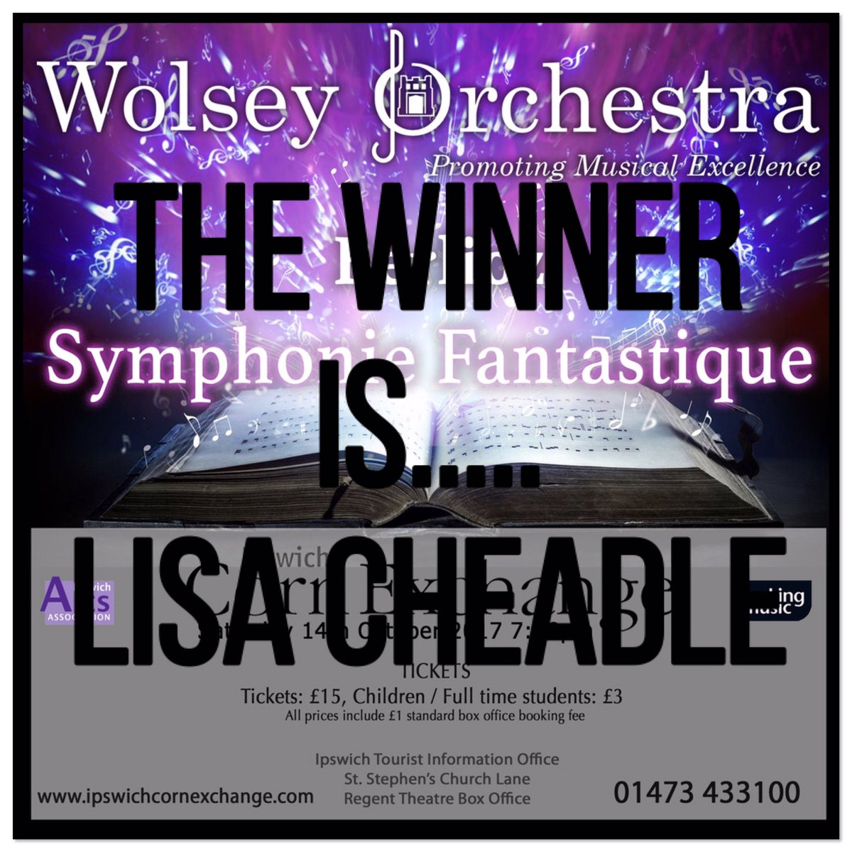 Congratulations to our Competition Winner #winner #concert #tickets #orchestra #localmusic<br>http://pic.twitter.com/b1ljpPYBnf