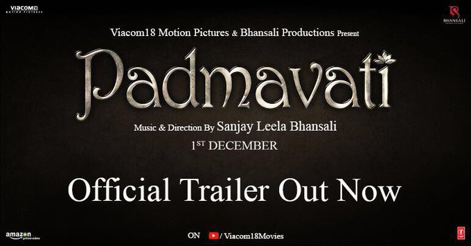 'PADMAVATI' is a tribute to India's glorious heritage & the exemplary courage of its women & men!#PadmavatiTrailer https://t.co/LN0carMoGI https://t.co/y30LH0SHrs