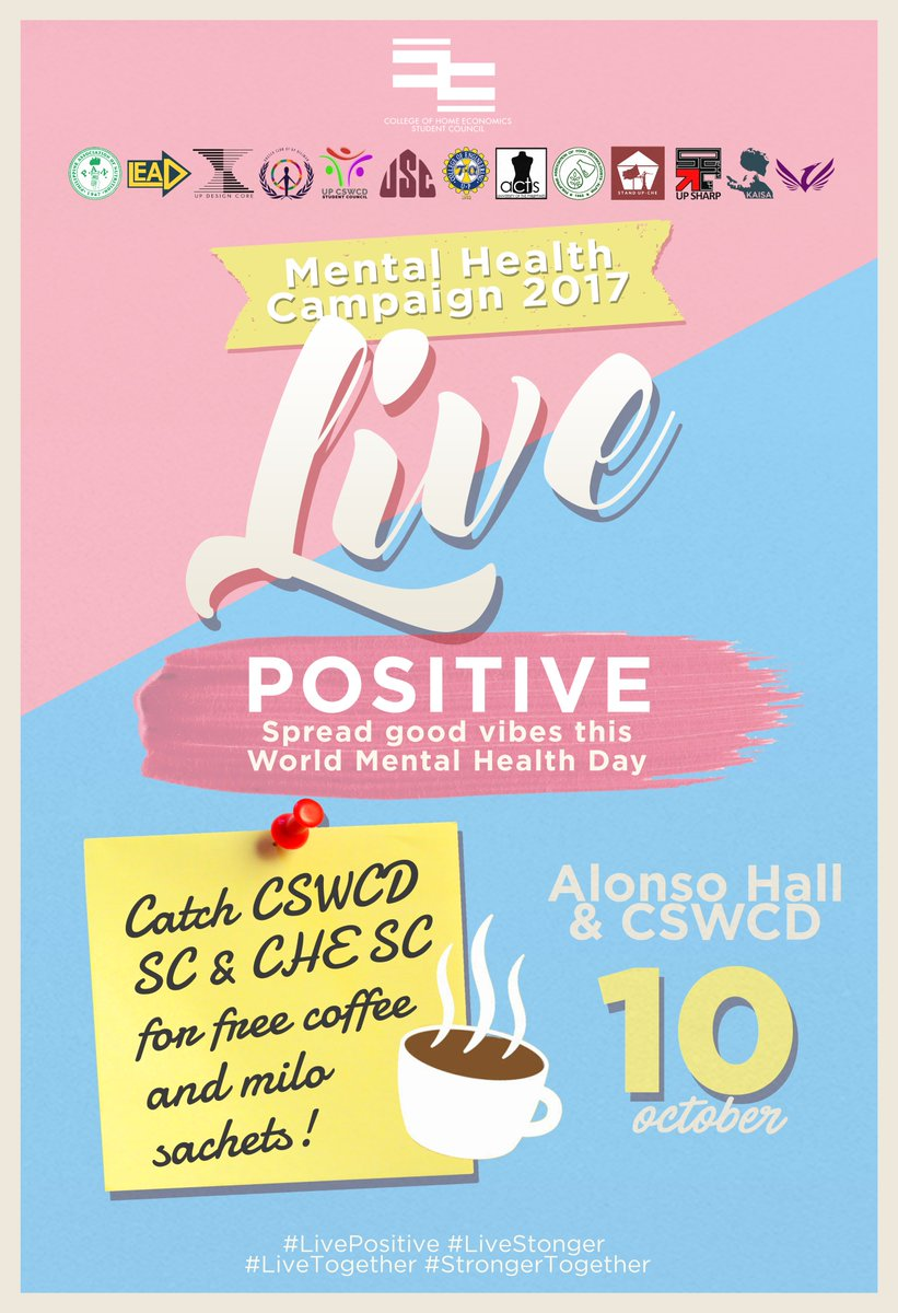 Che Student Council On Twitter Get Your Free Coffee And Milo From Sachet Us Upcswcdsc October 10 In Celebration Of World Mental Health Day