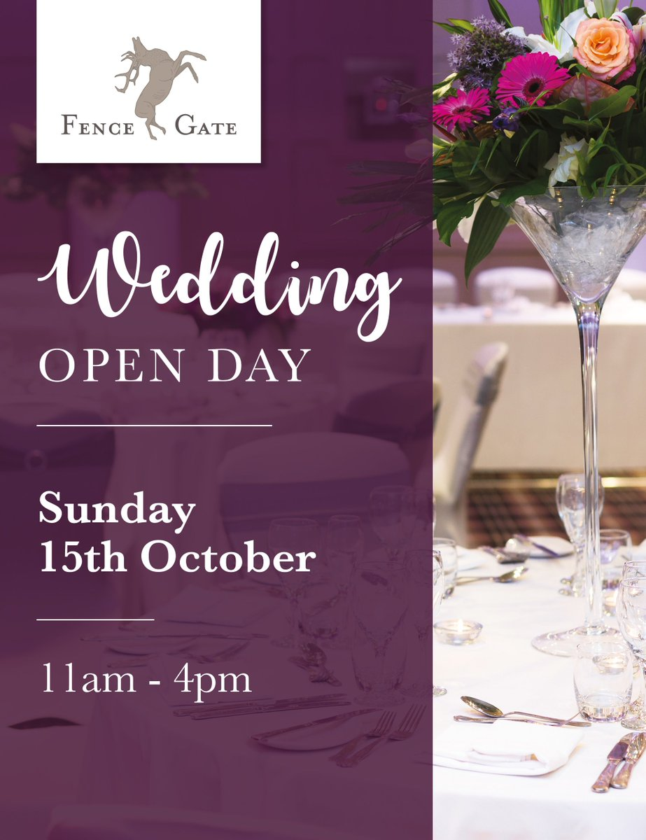 Are you #weddingplanning?  Wedding Open Day at @fencegateinn Sun 15 Oct, from 11am-4pm, showcasing stunning 3 function rooms! #lancashire <br>http://pic.twitter.com/5OAQJhJwB8