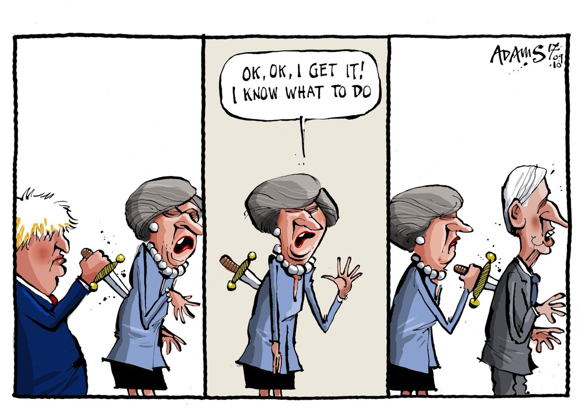 The Evening Standard Cartoon Knife In The Back Ukpolitics