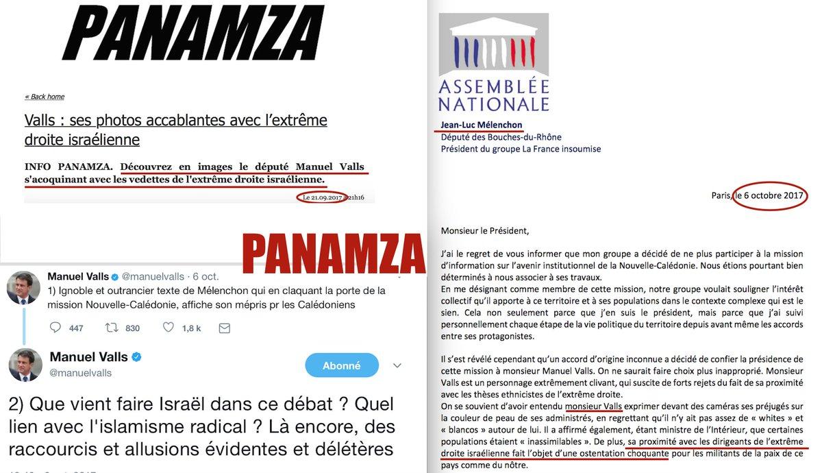 Pour tacler Valls, Mélenchon reprend un scoop de Panamza
