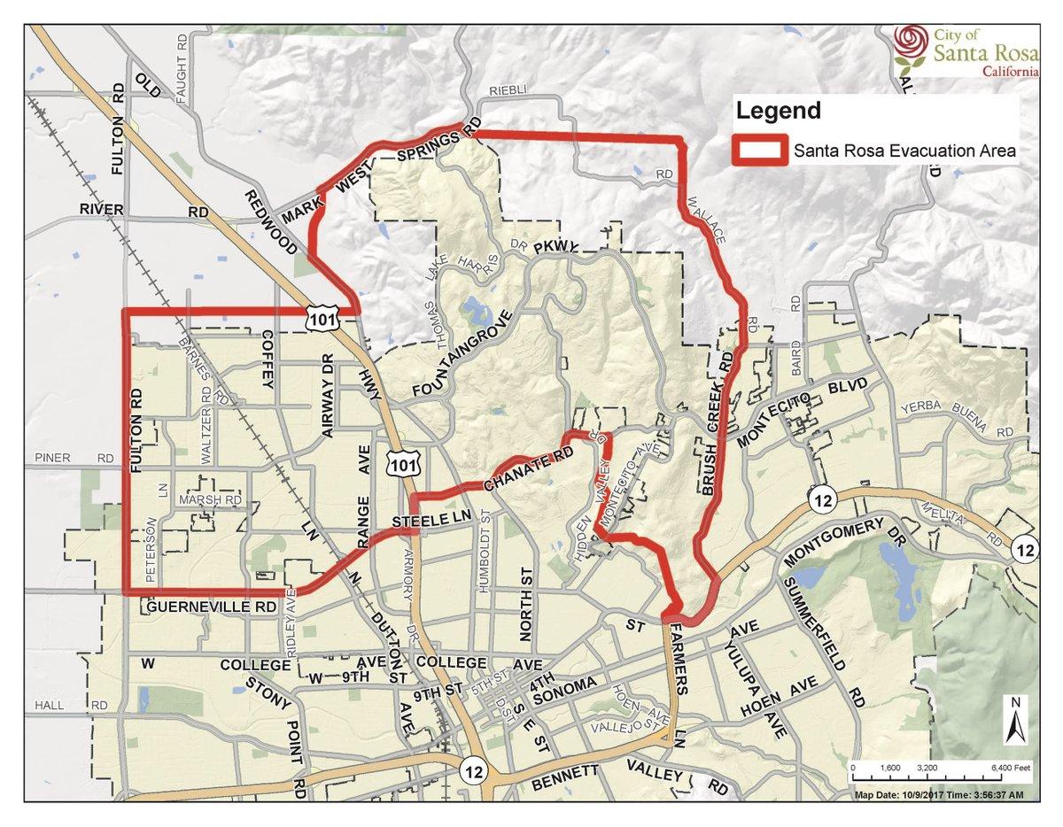 Sebastian Wolff New York On Twitter Santa Rosa Evacuation Map As