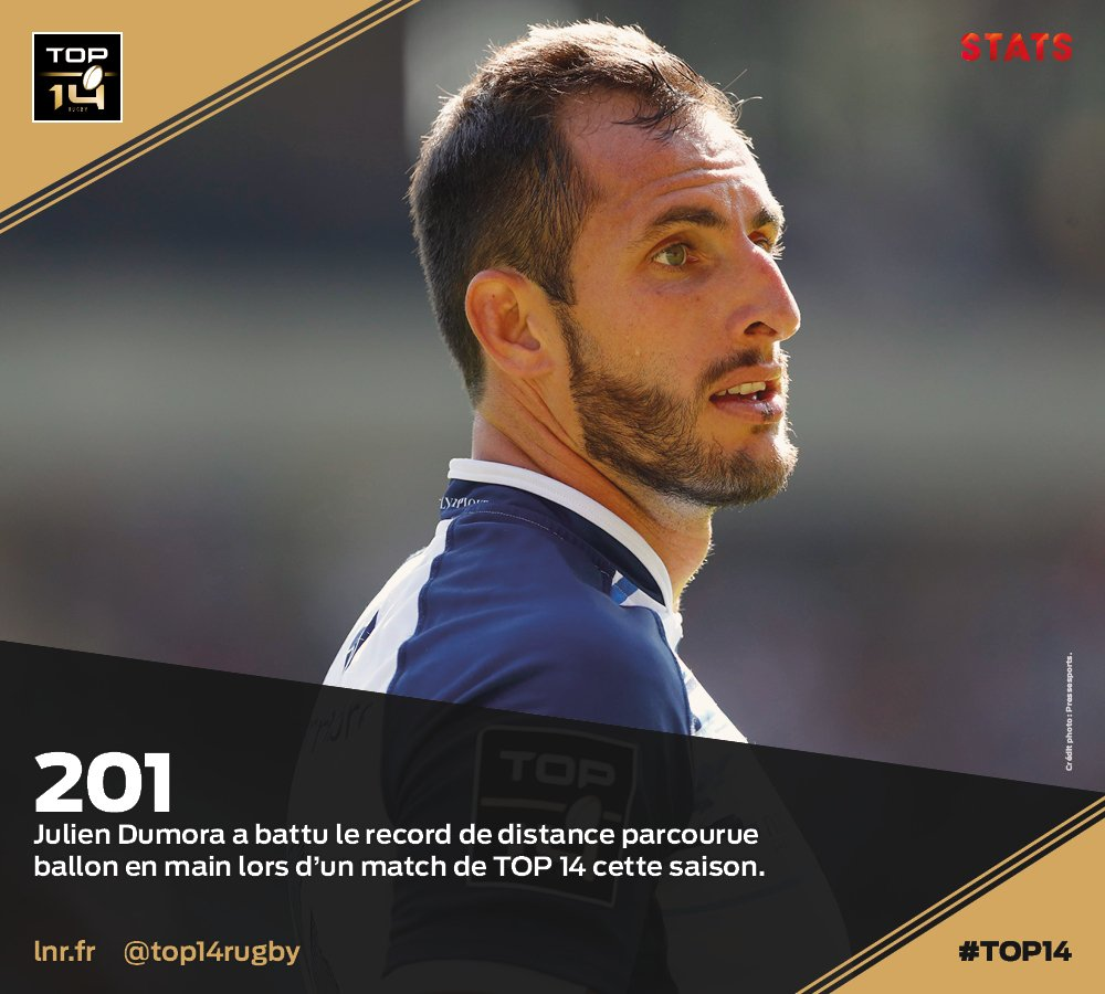 #TOP14, J7   #Stats ► @julien_dumora a b...