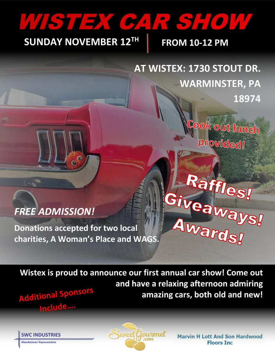 Wistex LLC On Twitter Car Show Event November Th AMPM - Car show giveaways
