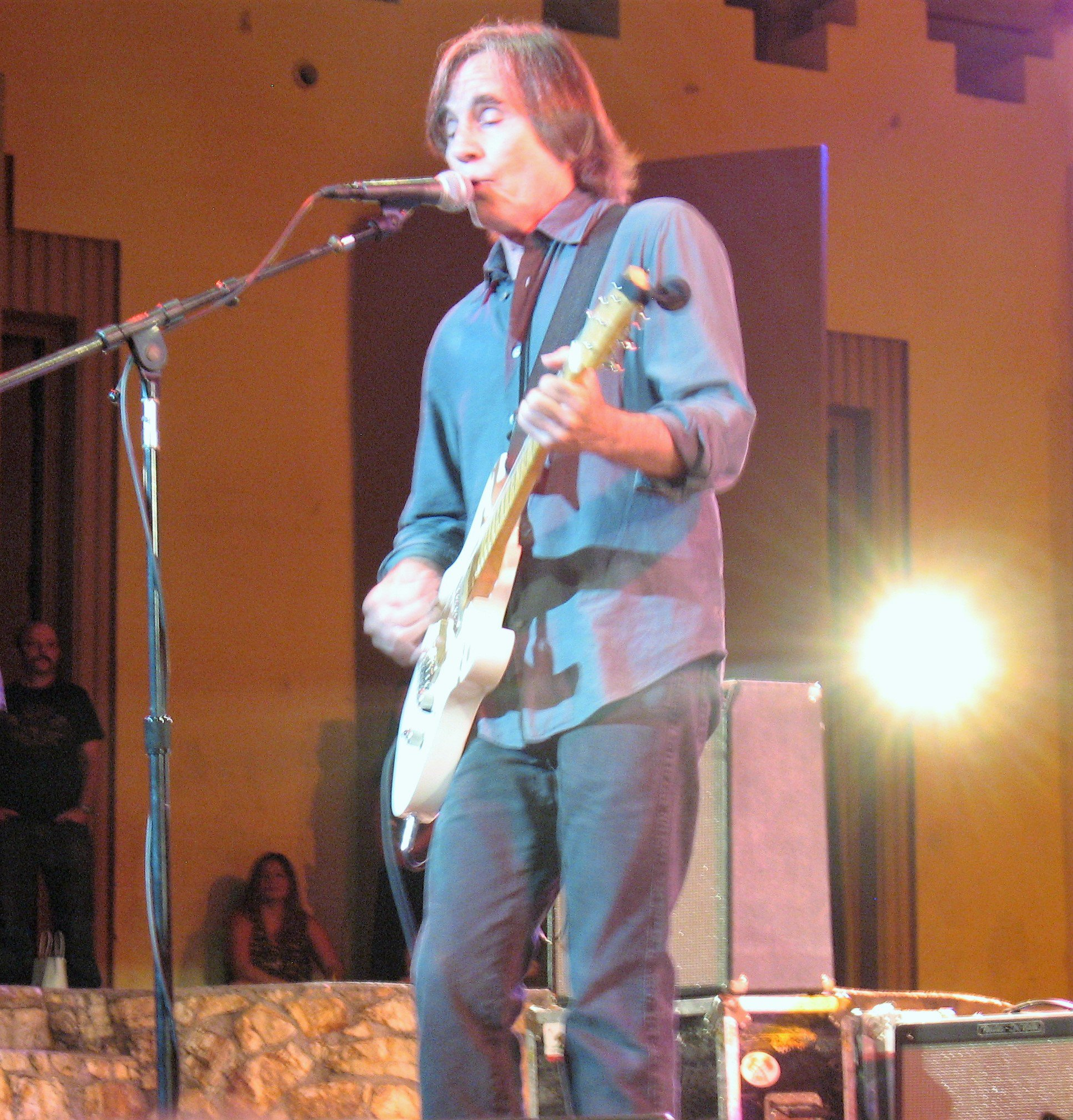 Happy Birthday Jackson Browne!  Photo taken at benefit in 2013.