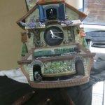 Flying Scotsman Locomotive cuckoo clock. In auction 10th October. #wga #auction #worthing #shoreham #brighton #hove #cuckooclock